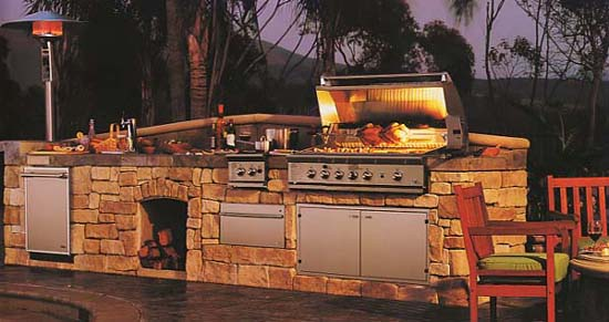 Outdoor Fireplaces Kitchens Spalding Gas - Kitchen-design-shows-exterior