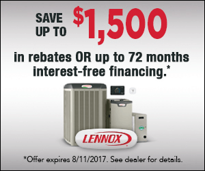save up to 1500 dollars in rebates on lennox products